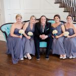 Beautiful Bridesmaids on Our Tiffany Vintage Settee