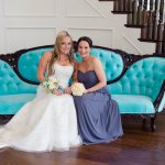 Beautiful Bride on Our Tiffany Vintage Settee
