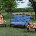 Elouise Vintage Settee with Johnny & June Floral Chairs