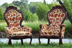 "Floral ""Johnny & June"" Vintage Chairs"