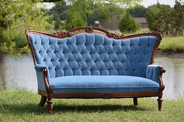 Elouise Settee Vintage Rentals All The Bells Whistles In Dallas Texas